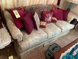 3 Cushion Floral Sofa with Pillows