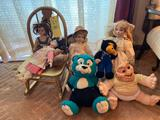 Stuffed Animals and Youth Rocker