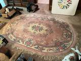 Floral Runner and Matching Oval Rug