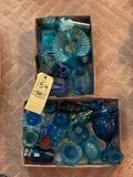 Blue Glass Items, Baskets, Hen on nest, Lighter