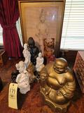 Buddah Statues and Wall Decor