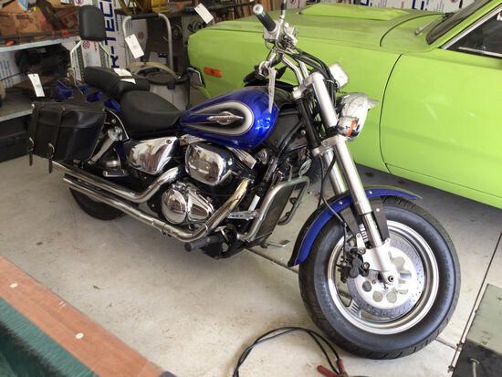 2000 Suzuki Marauder VZ800 Motorcycle, 24,270 miles. Runs. Needs tuneup
