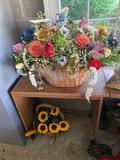 Small Desk and Artificial Flowers