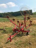 Tonutti RTP-8 Carted hay rake - hydrolic folding arms
