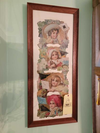 Nice Oak Framed Currier and Ives Style 1905 Calender