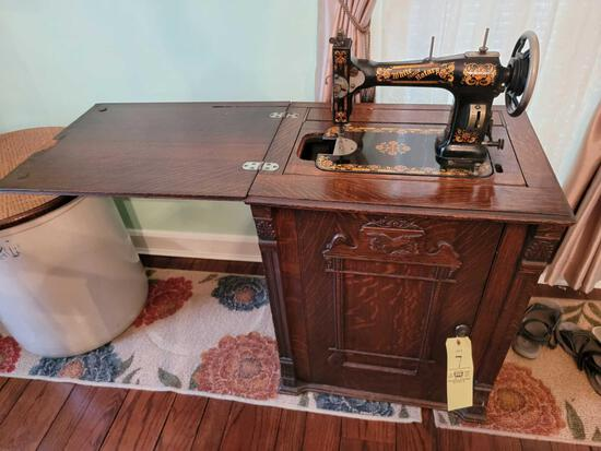 White Family Rotary Sewing Stand