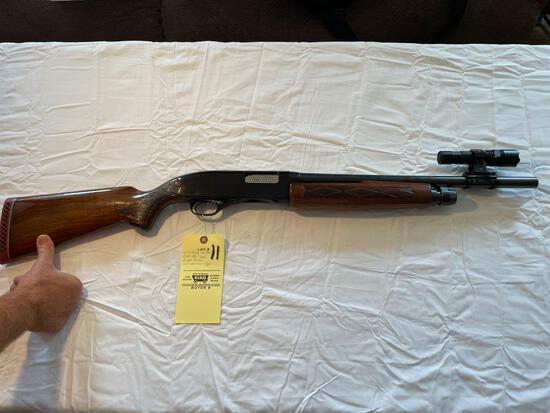 Winchester mod. 1200, 12 ga., 2 3/4 in., pump action with mounted light, 18+ in. barrel