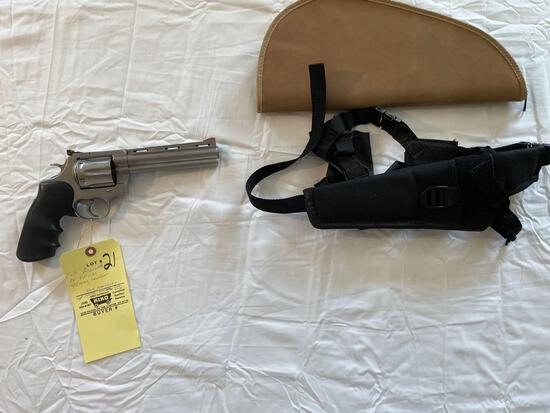 Colt Anaconda, 1st edition, .44 mag revolver, w/ holster & soft case