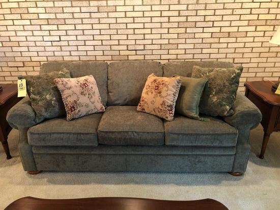 Flexsteel green sofa