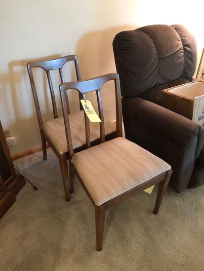 (2) mid-century dining chairs