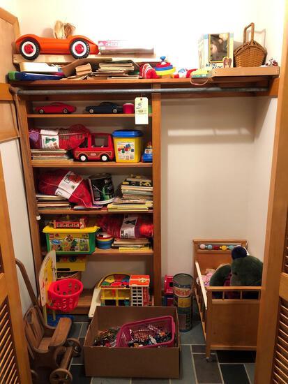 Toy closet contents
