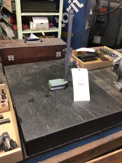 """24""""x18"""" layout table with height gauge."""