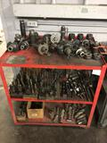 Tool cart full of tooling and hold downs.