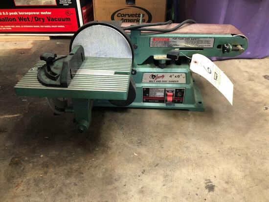 Grizzly 4x6 belt and disc sander
