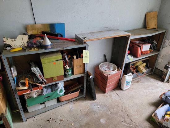 Power Tools, Garden Supplies, Shelves