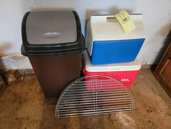 Coolers, Trashcan, Grill Grate
