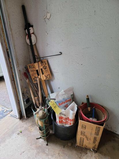 Garden Tools, Salt, Oxygen Tank