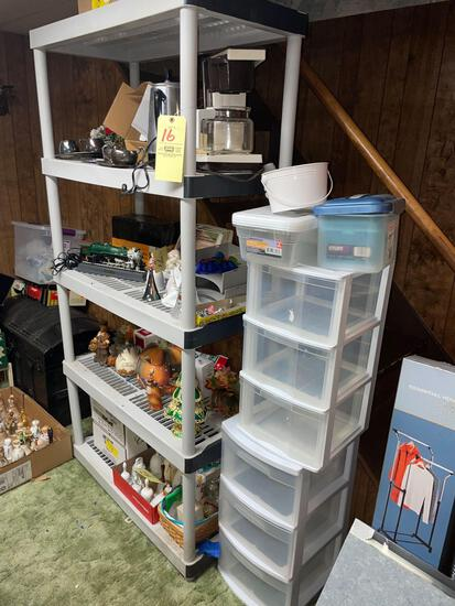 Keter plastic shelf and storage containers