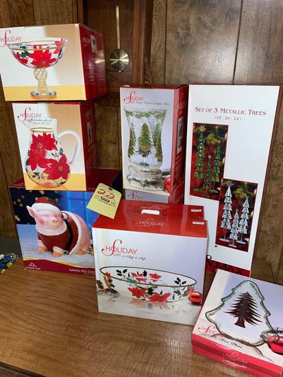 Holiday decor new in boxes