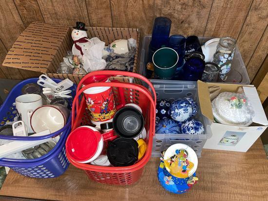 Assorted glassware - oriental spheres - mugs
