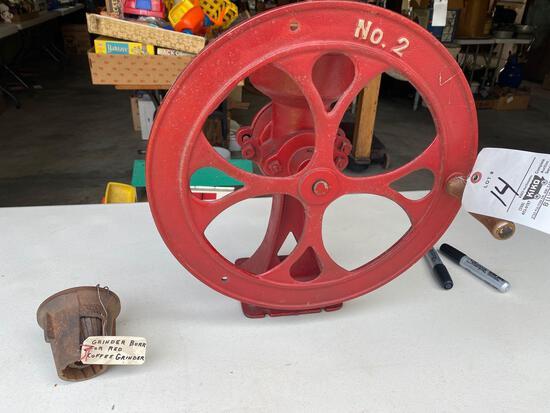 No. 2 burr mill grinder