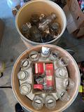 2 drums of jars