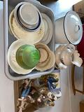 Glassware - bowl and pitcher - granite pot