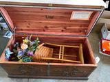 Lame cedar chest - with longaberger basket