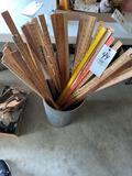 Few dozen yard sticks
