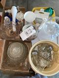 Pattern glass - stoneware pitcher - misc