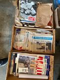 3 boxes old magazine and paper