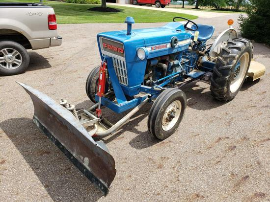 Ford 2000 with front blade
