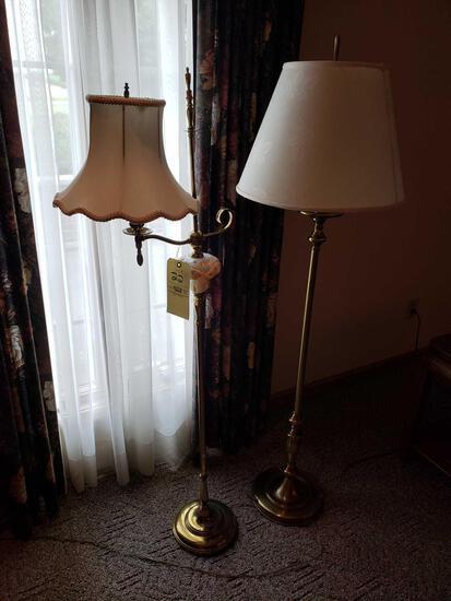 (2) floor lamps