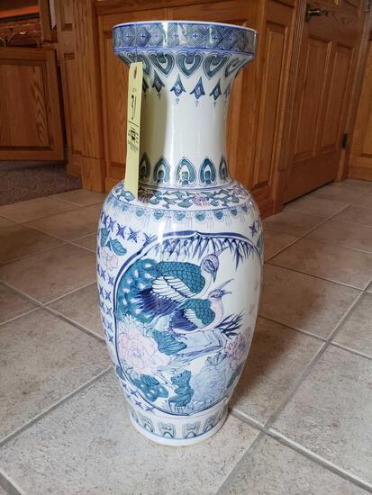 Oriental vase 25in. tall
