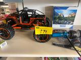 Jeep (no remote), puzzle and fly wheels