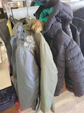 4 winter coats, 2 XL, 1 L, 1 S
