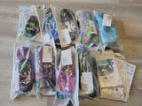 9 pairs of water shoes assorted sizes