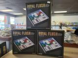 3 Royal Flush poker game sets