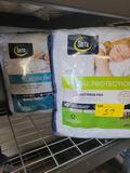 Serta queen mattress pads, Total Protection and Glacier Knit