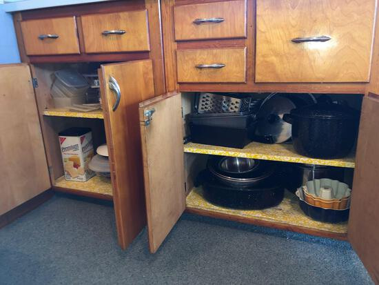 Tupperware, Baking Items, Contents of Bottom Cabinets