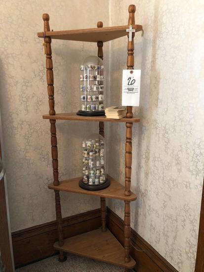 Thimble Collection, Corner Shelf