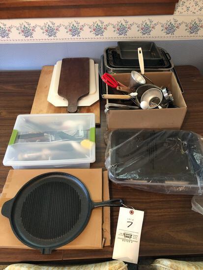 Baking Pans, Utensils, Cast Iron
