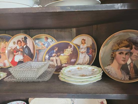 Limoges A Lanternier France plates, collector plates and placemats