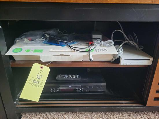 Wii game console, Wii fit, Integra DVD player