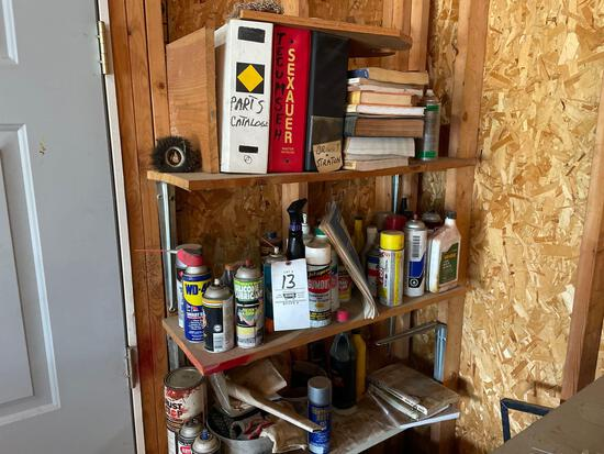 Fluids, sprays, small engine manuals