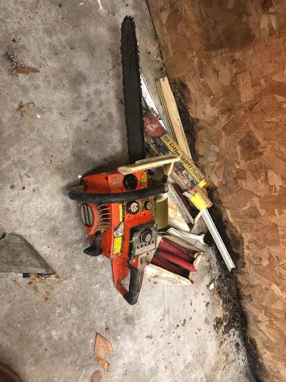 Echo Chainsaw, road flares, and candles