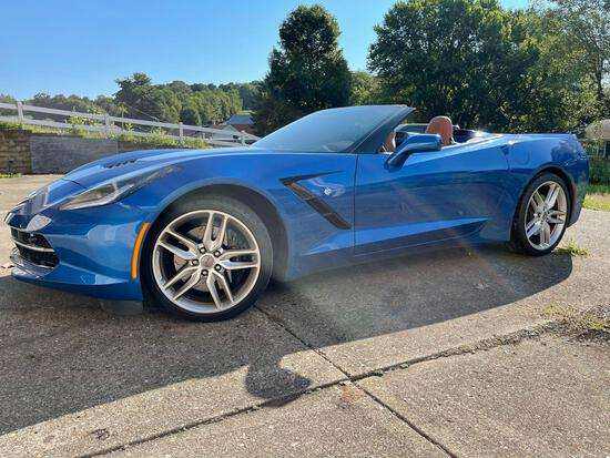 2016 Chevrolet Corvette Stingray, 6 speed stick shift, one owner 4,800 actual miles