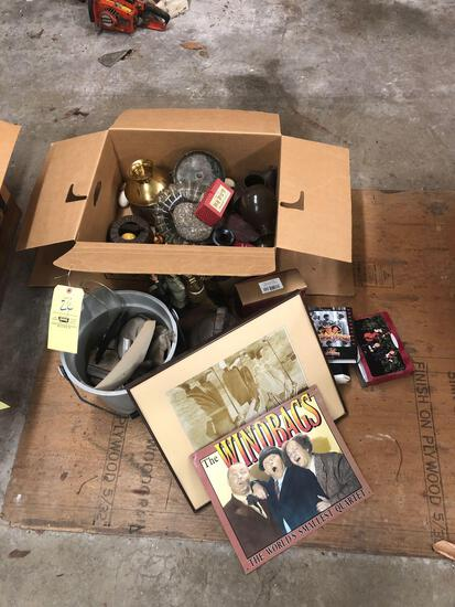 Antiques and 3 stooges collectibles