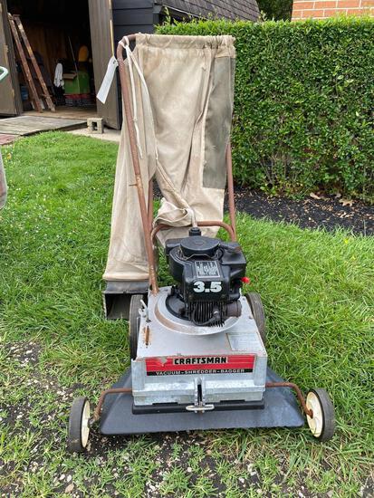 Craftsman 25-inch vacuum, shredder, bagger, 3.5hp