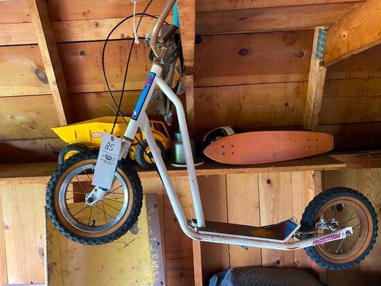 Vintage Scooter, Skateboard, Tonka Toys